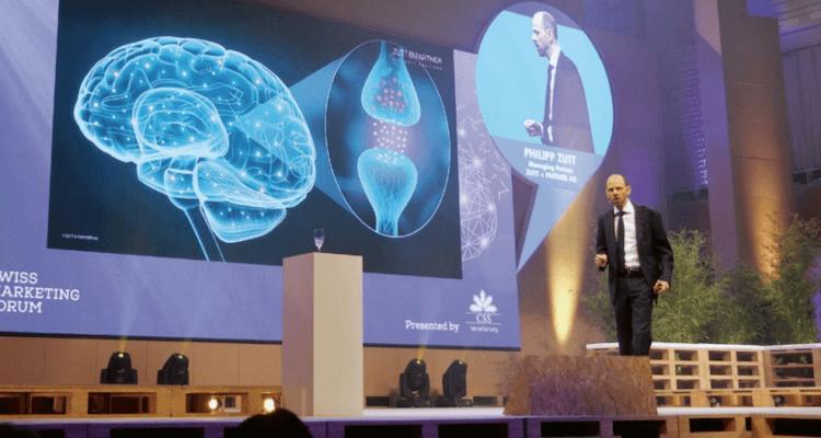 Bild vom Neuromarketing-Referat am Swiss Marketing Forum 2019
