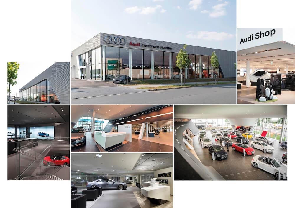 Moodboard der Audi Filialen