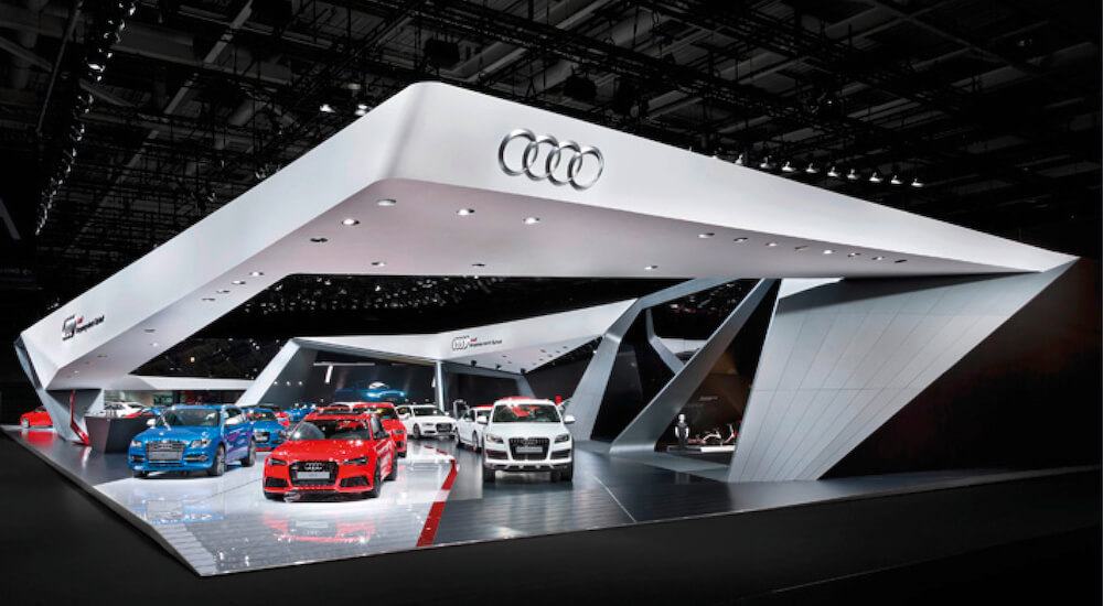 Moodboard eines Audi Messestands