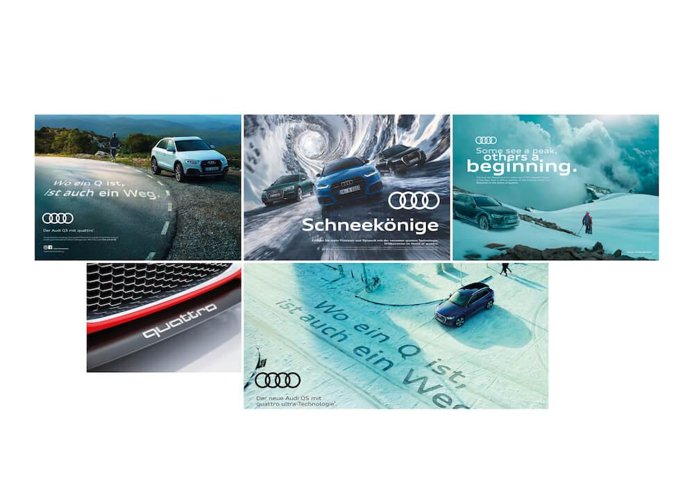 Moodboard der Audi SUV-Kampagne