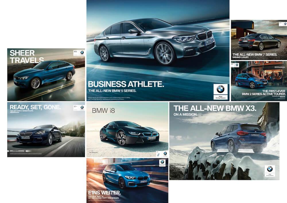 Moodboard der BMW Kampagne