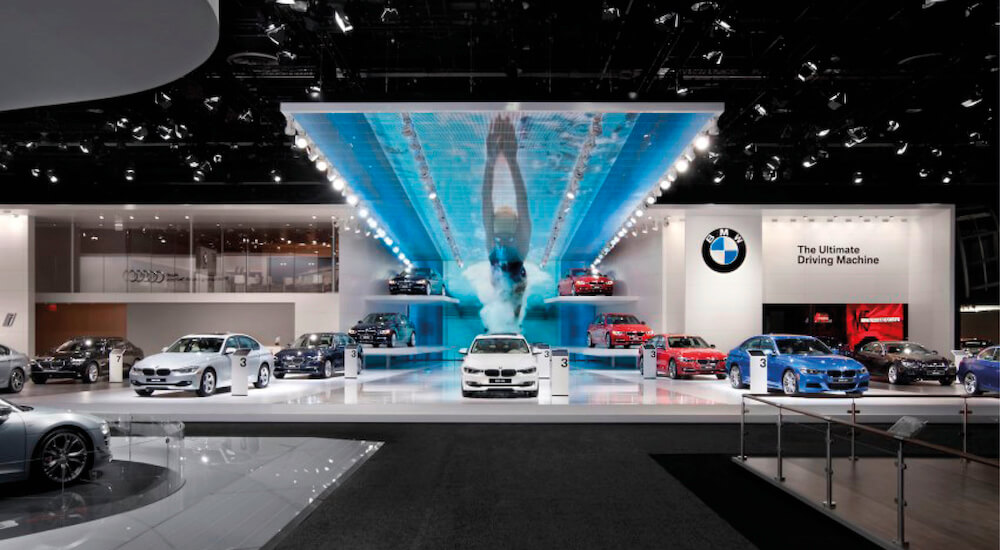 Moodboard eines BMW Messestands