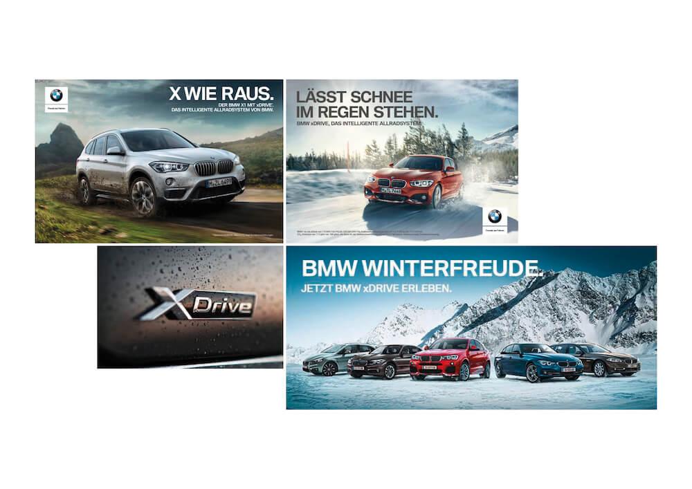 Moodboard der BMW SUV-Kampagne