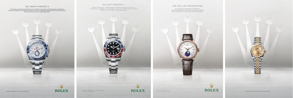 Moodboard der Rolex Kampagne