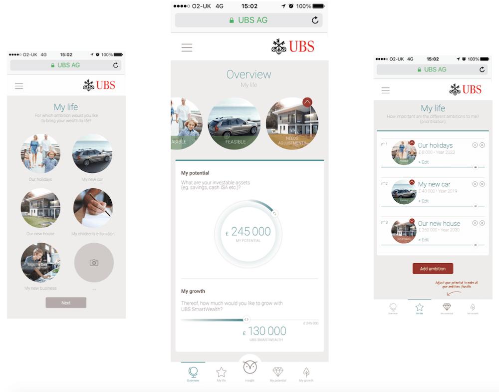Case Bild einer UBS App
