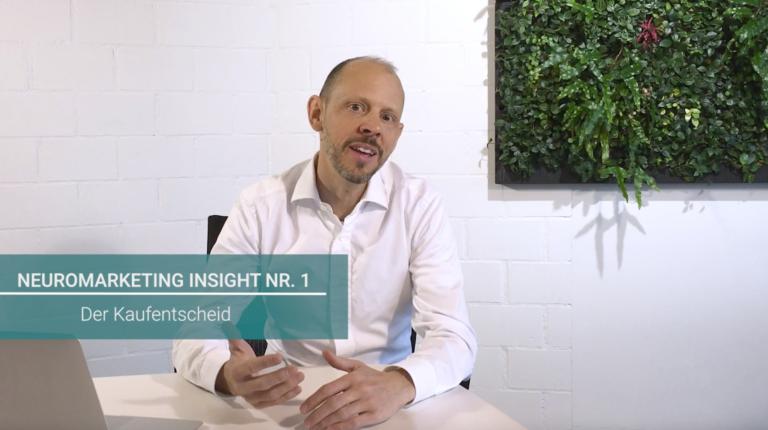 Im ersten Video der Serie «Neuromarketing Insights» dreht sich alles um den Kaufentscheid.