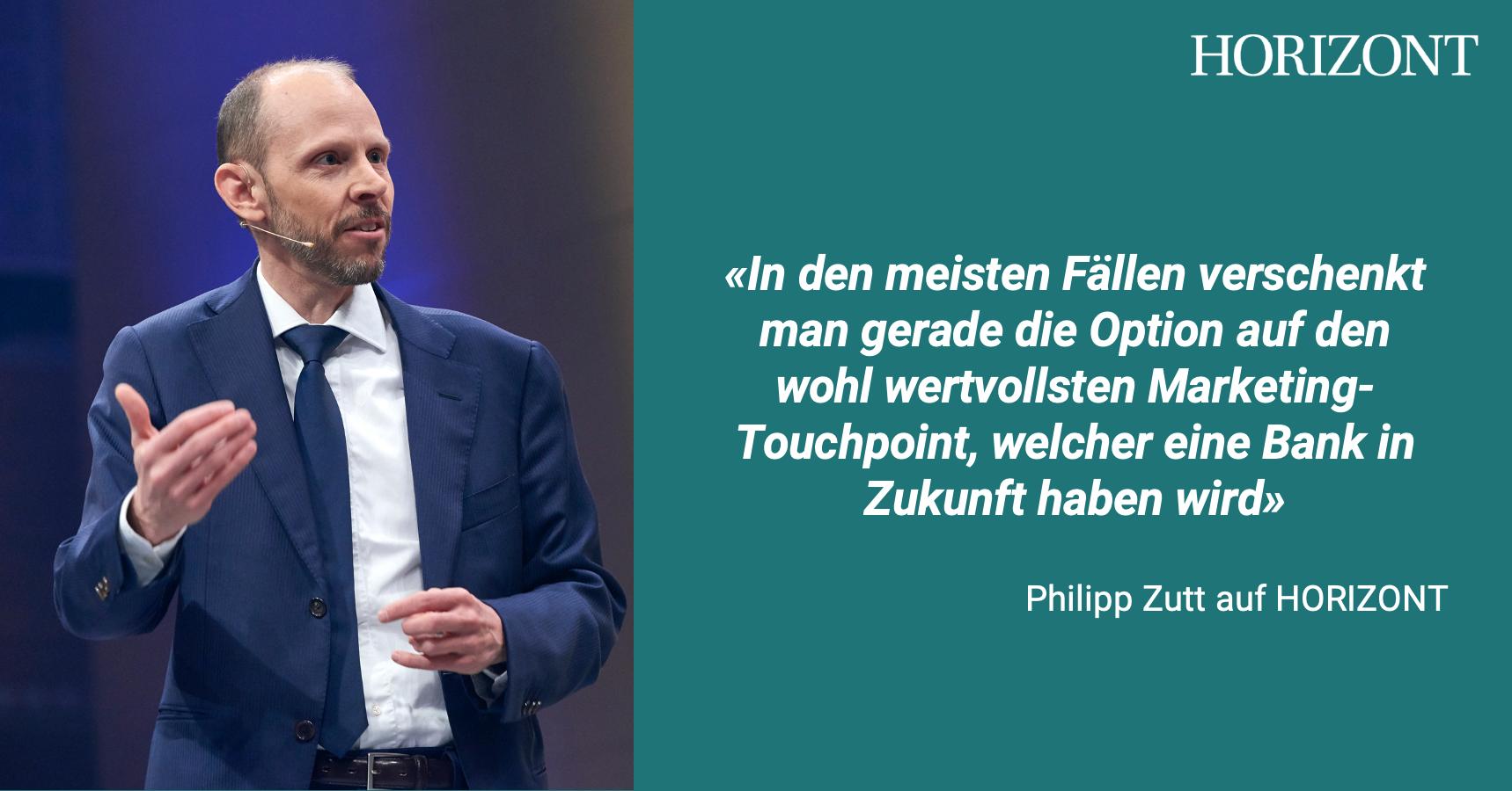 Philipp Zutt erklärt im Interview mit HORIZONT was der Touchpoint der Zukunft ist.