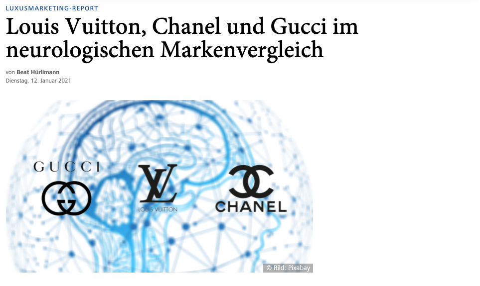 Louis Vuitton, Chanel und Gucci Neuromarketing-Studie in HORIZONT